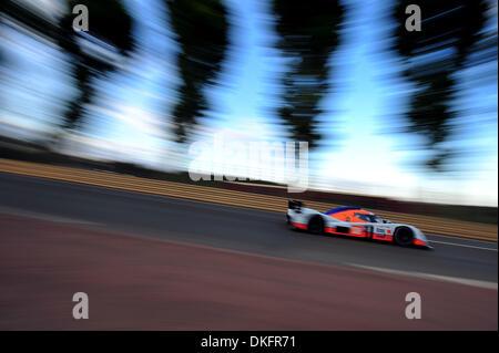 13. Juni 2009 - Le Mans, Frankreich - #008-Lola-Aston Martin während der 24 Stunden von Le Mans, Samstag, 13. Juni - Stockfoto