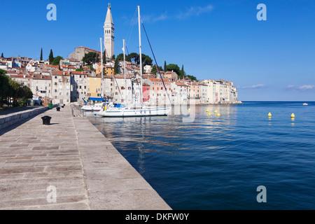 Altstadt und die Kathedrale von St. Euphemia, Rovinj, Istrien, Kroatien, Adria, Europa - Stockfoto