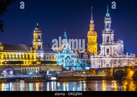 Dresden, Deutschland oberhalb der Elbe. - Stockfoto