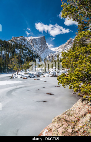 Bear Lake in Winter, Rocky Mountain Nationalpark, Colorado, Vereinigte Staaten von Amerika, Nordamerika - Stockfoto