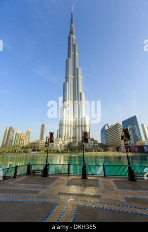 Burj Khalifa, Dubai, Vereinigte Arabische Emirate, Naher Osten - Stockfoto