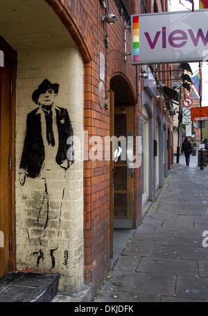 "Manchester City FC UK.  6. Dezember 2013.  Canal Street Art Ausstellung in Deansgate, Manchester.  ""Nördlichen Seelen"" - Stockfoto"