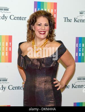 Washington DC, USA. 7. Dezember 2013. Sondra Radvanovsky kommt für die formale Künstlerin Abendessen zu Ehren der - Stockfoto