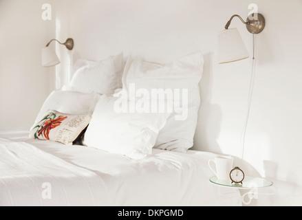 Weiße Schlafzimmer - Stockfoto