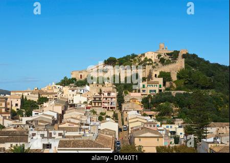 Balearen, Mallorca, Spanien, Europa, Capdepera, Ansicht, Burg, Festung, Stadt, City, draußen, niemand, - Stockfoto