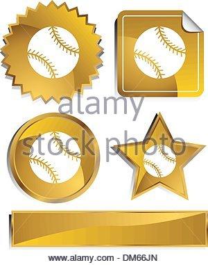 Gold - Baseball - Stockfoto