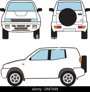 Auto - kleine Suv-Vektor-Formen - Stockfoto