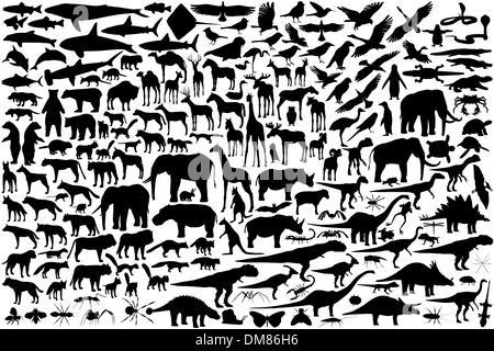 Tierischen Silhouetten - Stockfoto