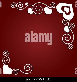 Valentinstag Hintergrund mit Herzen. Zusammenfassung Hintergrund - Stockfoto