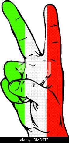 Peace Flagge Zeichen der italienischen - Stockfoto