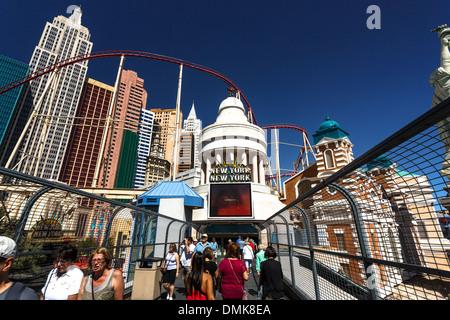 Ansicht von New York, New York in Las Vegas, Nevada - Stockfoto