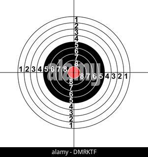 Abbildung eines Ziel-Symbols - Stockfoto
