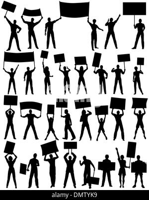 Demonstranten - Stockfoto