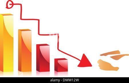 Handzeichnung eines Diagramms. Vektor-Bild - Stockfoto