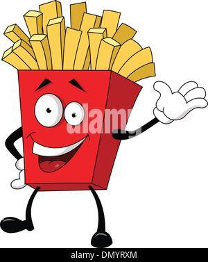 Abbildung der Pommes frites-cartoon - Stockfoto