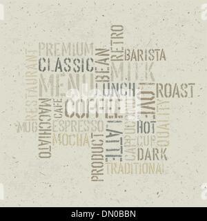 Kaffee unter dem Motto Plakat Design-Vorlage. Vektor, EPS10 - Stockfoto