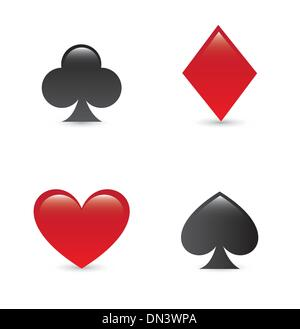 Spielkarten-Symbole - Stockfoto