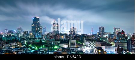 Sendai, Japan Stadtbild bei Nacht - Stockfoto