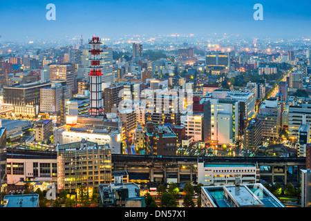 Sendai, Japan Stadtbild in der Dämmerung - Stockfoto