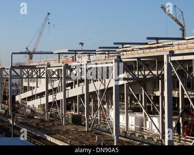 Breda Hauptbahnhof Bahnhof Baustelle, Niederlande - Stockfoto