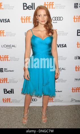 """Toronto, ON, Kanada. 10. September 2013. Jessica Chastain bei der Premiere von """"The verschwinden von Eleanor Rigby"""" - Stockfoto"""