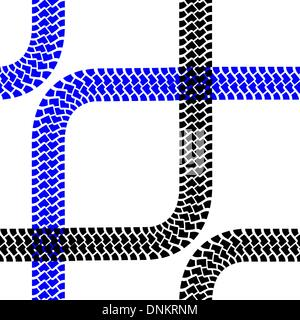 Nahtlose Tapete Reifen Spuren Muster Illustration Vektor Hintergrund - Stockfoto