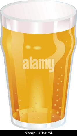Eine Vektor-Illustration ein schönes Pint Bier - Stockfoto