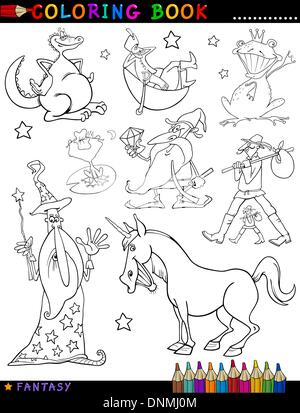 Fantasy, Drachen, Zwerg, Einhorn, Cartoon, Zauberer, Ritter, lachen ...
