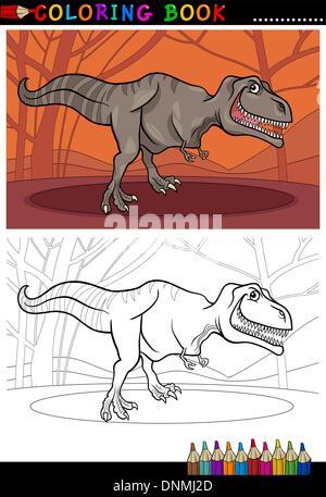 Tyrannosaurus Rex Dinosaurier zum Ausmalen Stockfoto, Bild ...