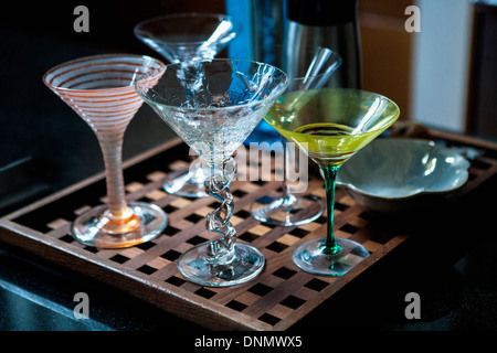 Sortiment von Martini-Gläser - Stockfoto