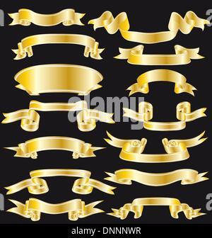 Kollektion von Vektor-Bänder hell in unterschiedlicher Form - Stockfoto