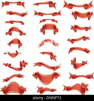 Kollektion von Vektor-Kurven-Bänder in verschiedenen Formen - Stockfoto