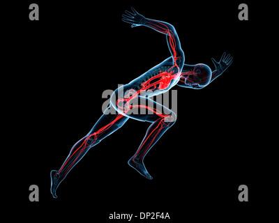 Sprinter, artwork - Stockfoto