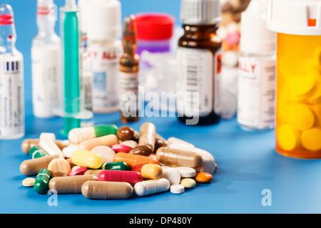 Verschiedene Drogen - Stockfoto