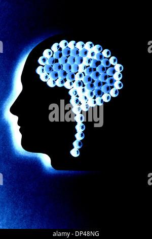 Gehirn Drogen, Konzeptbild - Stockfoto