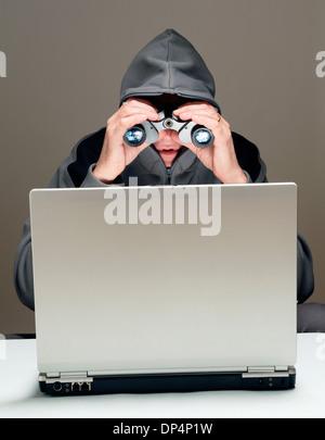 Cyber-stalking, konzeptionelle Bild - Stockfoto