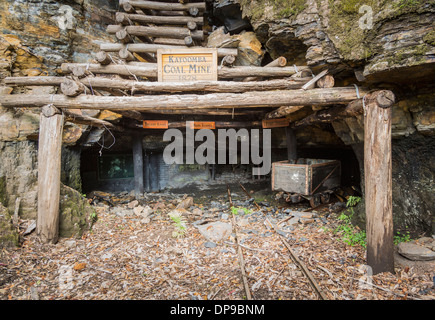 Katoomba Coal Mine Eingang in die Blue Mountains, New South Wales, Australien - Stockfoto
