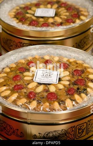 Natürliche Frucht Kuchen von crumpacker Backen und Catering, Santa Fe, Bauernmarkt, Santa Fe, New Mexico USA - Stockfoto