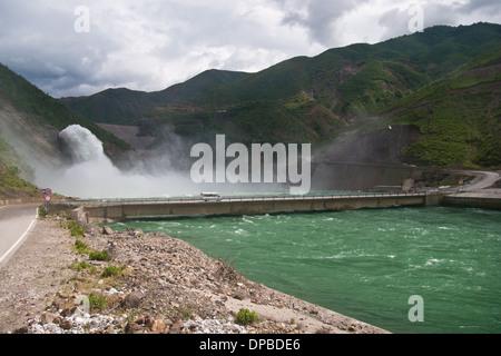 Talsperre Fierza See, Albanien - Stockfoto