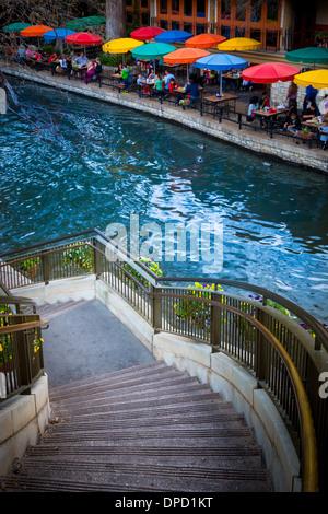 Der Riverwalk, San Antonio, Texas, Vereinigte Staaten - Stockfoto