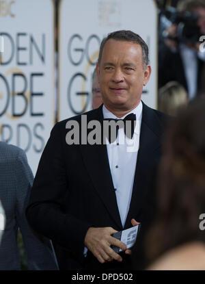 Beverly Hills, Kalifornien, USA. 12. Januar 2014. Schauspieler Thomas Hanks kommt für die 71. annual Golden Globe - Stockfoto