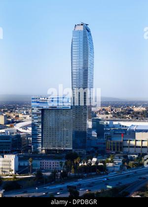 LA Live, Ritz Tower, Los Angeles, Kalifornien, USA - Stockfoto
