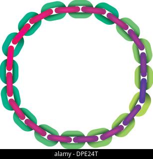 Verknüpfung von Kette in Form eines Kreises - Stockfoto
