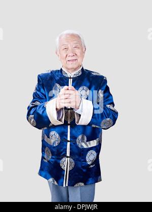 Porträt von senior chinesischer Mann - Stockfoto