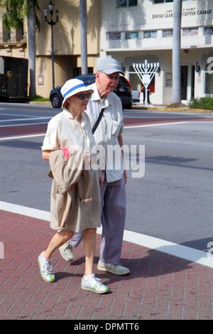 Miami Beach Florida 41st Street Arthur Godfrey Boulevard senior Mann Frau paar - Stockfoto