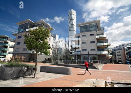 Bestandteil der meist kostenlosen Verkehrszentrum des Vastra Hamnen, einem neuen nachhaltigen Vorort von Malmö, - Stockfoto