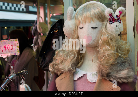 Süße / Kawaii japanischen Mode auf Takeshita Street, Harajuku, Tokio, Japan. - Stockfoto