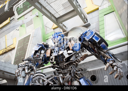 Transformatoren die Fahrt. Universal Studios, Sentosa Island, Singapur. - Stockfoto