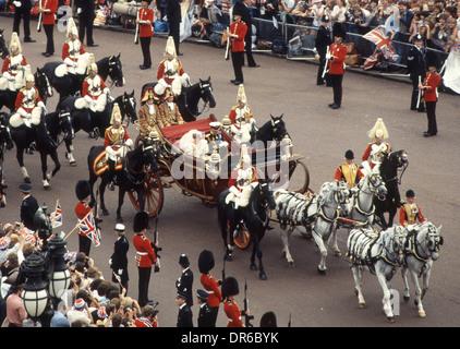 Hochzeit von Prinz Charles und Lady Diana Spencer 29. Juli 1981 Stockfoto