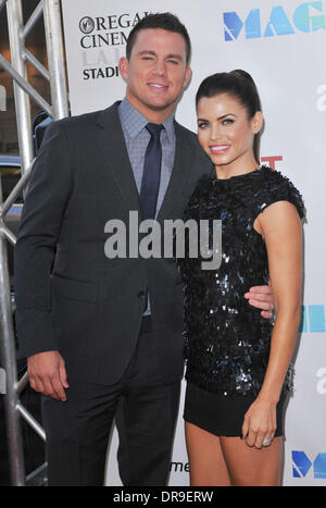 "Channing Tatum, Jenna Dewan-Tatum 2012 Los Angeles Film Festival - Closing Night Gala premiere ""Magic Mike"" am Regal - Stockfoto"